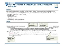 Resume Extracurricular Activities Sample by Dta Toolkit Reference