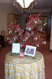 family tree complete with cardinal decorations for everyone