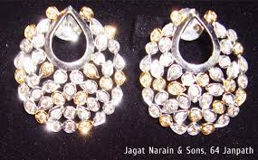 heavy diamond earrings traditional indian bridal jewelry myshaadi in