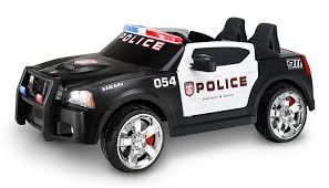 for kids police vs car amazon com kid trax charger police car 12v amazon exclusive