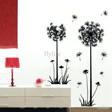 articles with wall vinyl art uk tag wall sticker art large black dandelion wall stickers art room decor wall decals peel stick removable murals for living