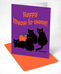 hallow ween seasonal and holiday cards portraits of animals