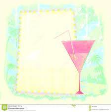 uitnodiging voor cocktail party stock illustratie afbeelding