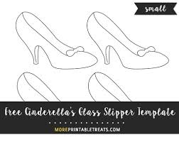 cinderella u0027s glass slipper template u2013 small