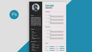 Resume Samples Pdf by Cv Resume Template Design Tutorial With Photoshop Free Psd Docs