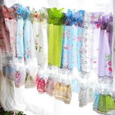 Shabby Chic Curtains Pinterest by Shabby Chic Curtain Rose Garden Lace Quilt Valance Rose Curtain