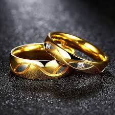 golden rings online images Golden love wedding band couple ring online shopping in pakistan jpg