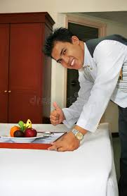 deliver fruit room service deliver fruit with thumb up stock photo image of