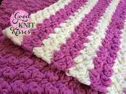 marshmallow crochet baby blanket goodknit kisses