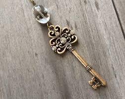 antique key necklace images Antique key necklace etsy jpg