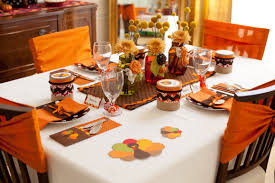 decorate thanksgiving table home design