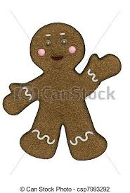traditional gingerbread man holiday christmas cookie clip art