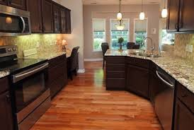 Elegant Kitchen Makeover Ideas With Granite Countertop And Bright - Simple kitchen remodeling ideas