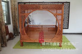 and qing antique wood furniture carved hollow on portal double bed ming and qing antique wood furniture carved hollow on portal double bed old elm canopy bed