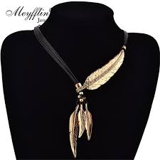 fashion jewelry statement necklace images Female feather necklaces pendants shoprandy jpg