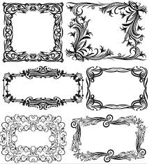 ornamental frames 13 ai format free vector vectorpage