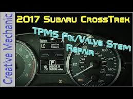 subaru low tire pressure light how to fix a tire pressure light 2017 subaru crosstrek valve stem