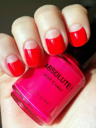 got polish challenge pink with absolute neon nail color in