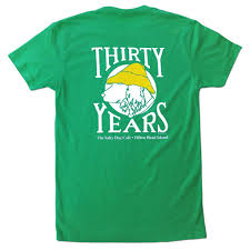 t shirt thirty years short sleeve in cool blue the salty dog inc