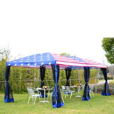 outsunny 10 u0027 x 20 u0027 pop up canopy shelter party tent with mesh