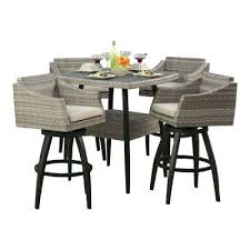 Bar Height Patio Dining Set Bar Height Outdoor Dining Set 5 All Weather Wicker Patio Bar