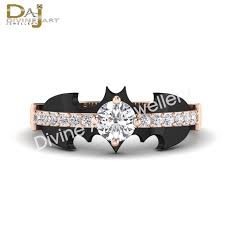 batman engagement rings copy of black solid 14k gold batman by dfinejewelry on zibbet
