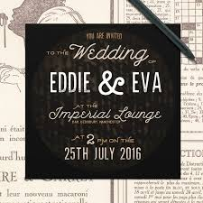 Black Wedding Invitations Industrial Vintage Wedding Invitations Rustic Black Wedding