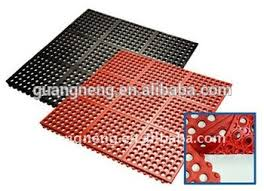 drainage resistance hotel kitchen bathroom rubber mat rubber