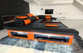 xxl wohnlandschaft xxl sofa u form design sectional sofa matera xxl with led lights