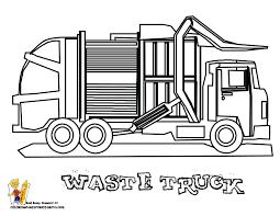 grimy garbage truck coloring garbage trucks free
