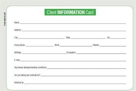Client Information Sheet Template Customer Information Form Template