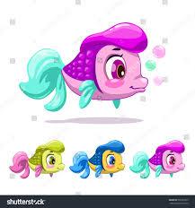 cute cartoon little fish vector childish stock vector 566389975