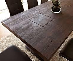 Esszimmertisch 200 X 100 Tisch Akazie Tabak 200x100 Cm Massivholz Beine Durchgestossen