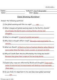 Global Warming Worksheet Global Warming Lessons Tes Teach