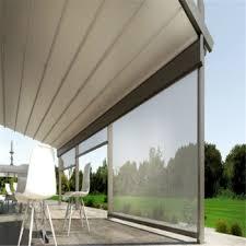 balcony curtain sunshine shade balcony curtain motorized polyester roller anti uv