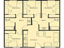 simple house plan with 4 bedrooms on bedroom and simple house
