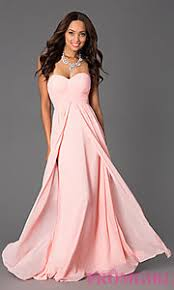 floor length strapless sweetheart dress at promgirl goconfidently