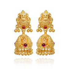 gold earrings online earrings 22kt gold bead with gold earrings grt jewellers