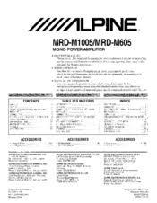 alpine mrd m605 v12 amplifier manuals