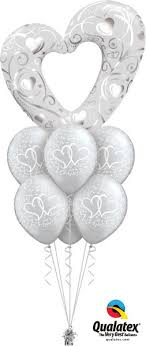 heart balloon bouquet silver heart balloon bouquet wham bam balloon