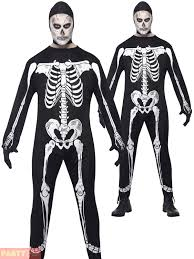 adults skeleton jumpsuit mens halloween fancy dress costume scary