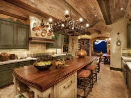 Kitchen Decor Idea by Excellent Spanish Kitchen Decor Idea With Wrought Iron Chandelier