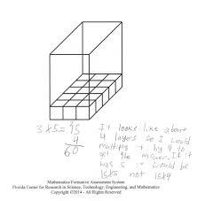 determining volume students analyze a rectangular prism that