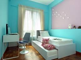 Pink Corner Desk Light Blue And Soft Pink Wall Room Plus Glass Windows Also White
