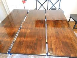 laminate table top refinishing before and after painted dining table top to refinished natural