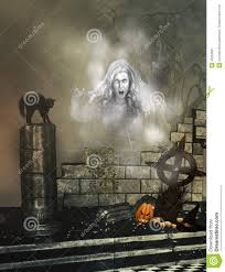 halloween background ghost halloween background with ghost stock illustration image 40204931