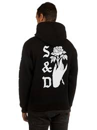 buy swallows and daggers rose hand hoodie online at blue tomato com