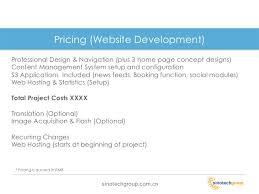 website proposal sample web design proposal sample website formal
