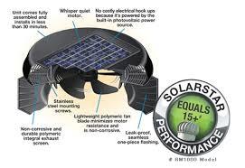 solar star solar powered roof ventilation solution solatube