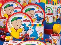 caillou party supplies growing bigger with caillou birthday party supplies